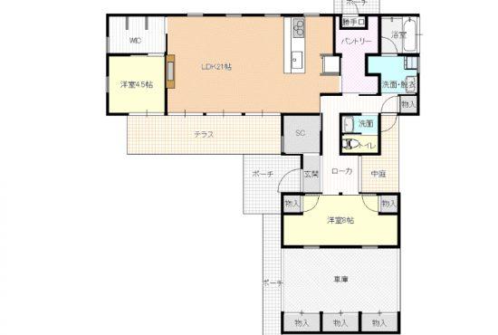 建築士が設計・施行したこだわりの住宅です。